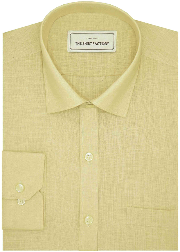 Men's 100% Cotton Plain Shirt - Beige (0666) - Theshirtfactory