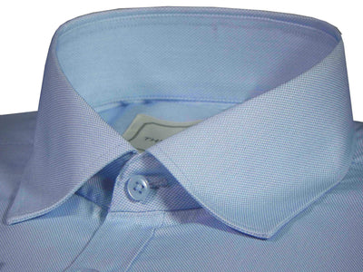 Men's Cotton Blend Dobby Plain Shirt - Sky Blue (0763) - Theshirtfactory