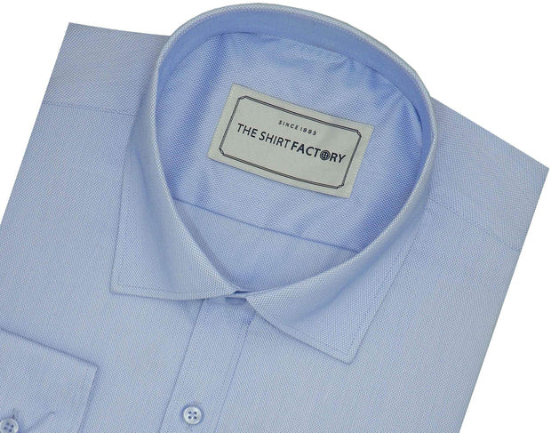 Men's Cotton Blend Dobby Plain Shirt - Sky Blue (0763)