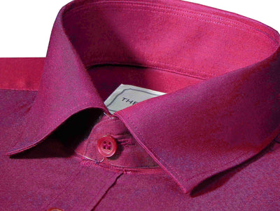 Men's Cotton Blend Plain Shirt - Maroon (0773) - Theshirtfactory