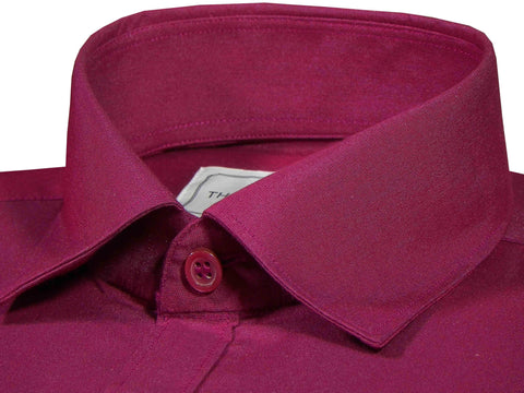 Men's Cotton Blend Plain Shirt - Rosewood Maroon (0868) - Theshirtfactory