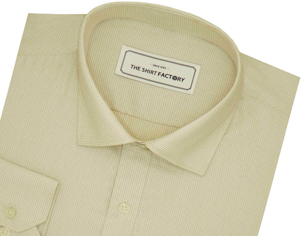 Men's Cotton Dobby Shirt - Beige (0778) - Theshirtfactory