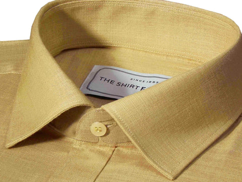 Men's Cotton Linen Blend Plain Shirt - Desert Sand Brown (0909) - Theshirtfactory