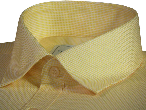 Men's Poly Cotton Dobby Plain Shirt - Yellow (0987) - Theshirtfactory