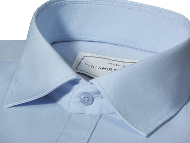 Men's Poly Cotton Plain Shirt - Sky Blue (0892) - Theshirtfactory