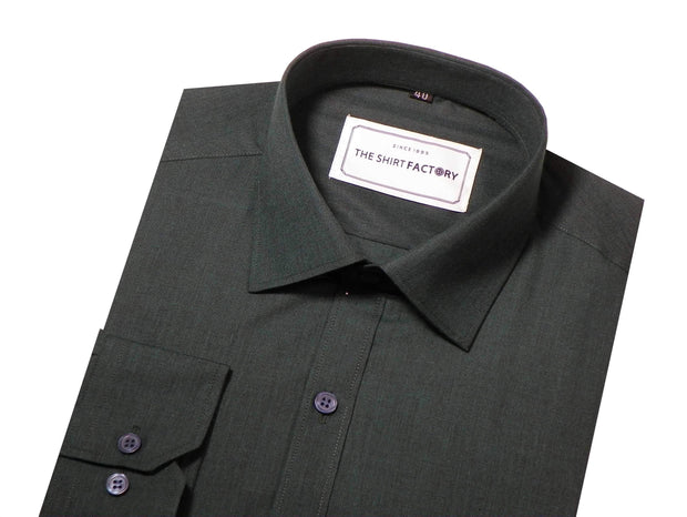 Men's 100% Cotton Plain Shirt - Black (0474) - Theshirtfactory