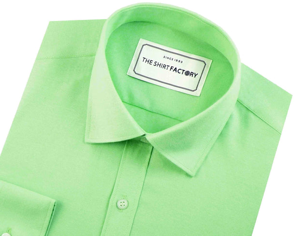 Men's Cotton Blend Oxford Light Green Shirt - (0540) - Theshirtfactory