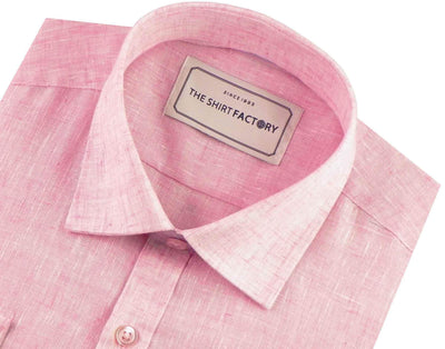 Men's Cotton Blend Plain Shirt - Pink (0526) - Theshirtfactory
