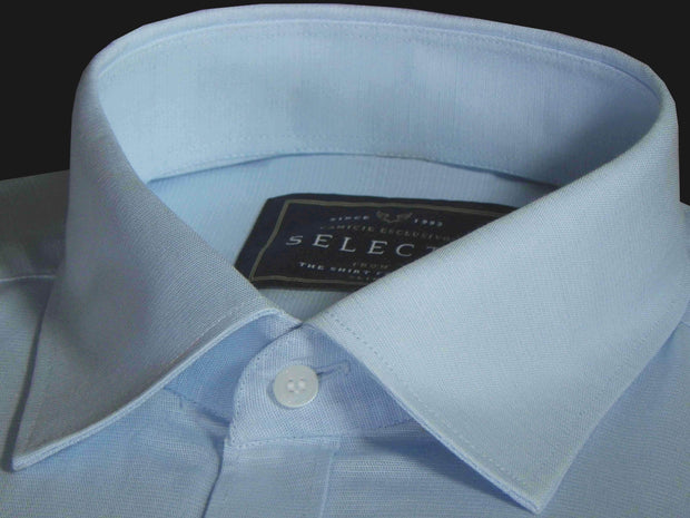Selects Linen Cotton Blended Plain Shirt - Sky Blue (0872) - Theshirtfactory