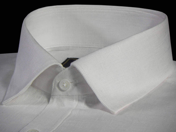 Selects Pure Linen Plain Shirt - White (0528)