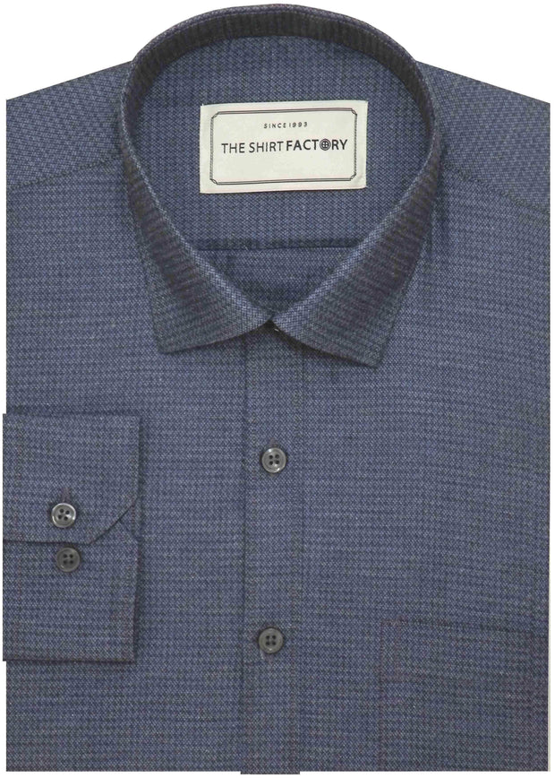 Men's 100% Cotton Dobby Shirt - Blue (0603) - Theshirtfactory