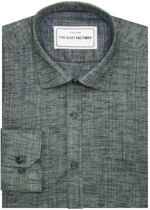 Men's Blended Plain Shirt - Grey (0750) - Theshirtfactory