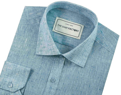 Men's Cotton Blend Plain Shirt - Light Blue (0696) - Theshirtfactory