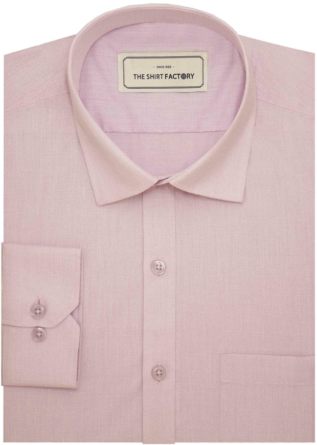 Men's Cotton Blend Plain Shirt - Light Pink (0775) - Theshirtfactory