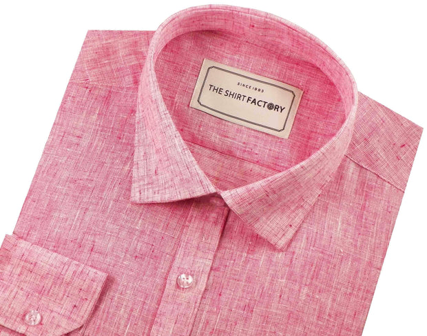 Men's Cotton Blend Plain Shirt - Pink (0695) - Theshirtfactory