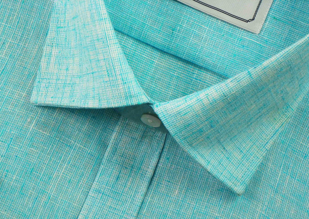 Men's Cotton Blend Plain Shirt - Sky Blue (0694) - Theshirtfactory