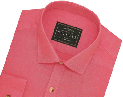 Selects Premium Giza Cotton Plain Shirt - Peach (0724) - Theshirtfactory