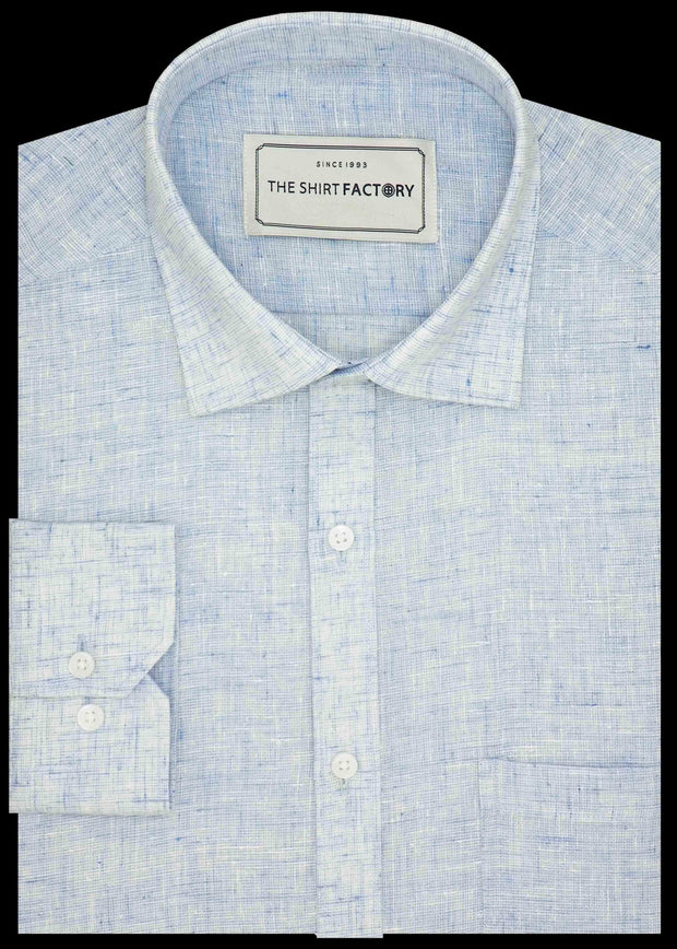 Men's Cotton Blend Plain Shirt - Sky Blue (0525) - Theshirtfactory