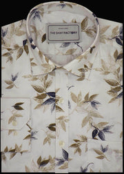 Men's 100% Cotton Printed Shirt - White (0359) - Theshirtfactory