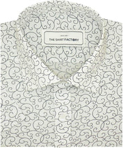Men's 100% Cotton Printed Shirt - White (0516) - Theshirtfactory