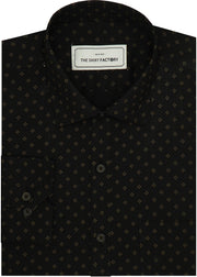 Men's Cotton Printed Shirt for Men Black (0243) - Theshirtfactory