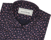 Men's Cotton Printed Shirt Black (0615) - Theshirtfactory