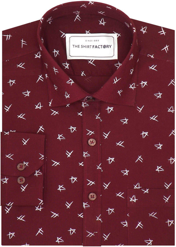 Men's Premium Cotton Printed Men Red (1027) - Theshirtfactory