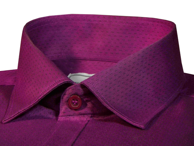 Men's Poly Cotton Printed Shirt for Men Purple (0995) - Theshirtfactory