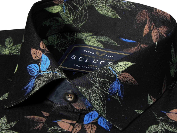 Selects Premium Cotton Printed Shirt - Black (0504) - Theshirtfactory