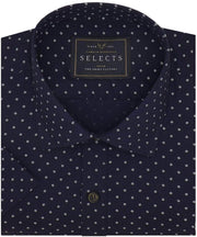 Selects Premium Cotton Printed Shirt Navy Blue (0620) - Theshirtfactory