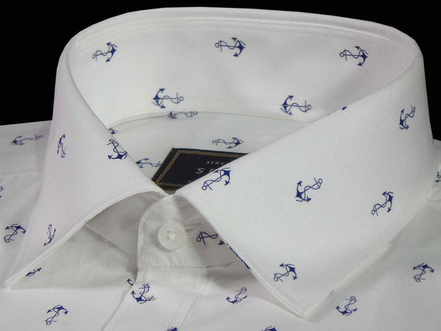 Selects Premium Cotton Printed Shirt for Men White - (0918) - Theshirtfactory