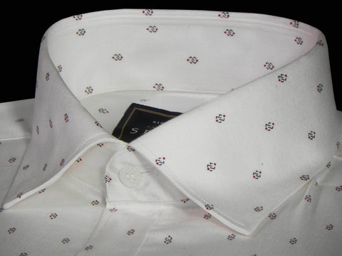 Selects Premium Cotton Printed Shirt White - (0924) - Theshirtfactory