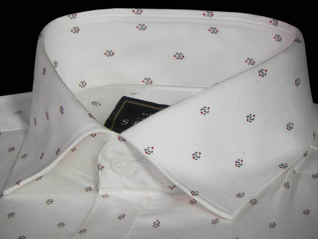 Selects Premium Cotton Printed Shirt for Men White - (0924) - Theshirtfactory