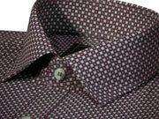 Selects Premium Cotton Printed Shirt - Maroon (0619) - Theshirtfactory