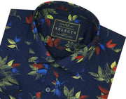 Selects Premium Cotton Printed Shirt - Navy (0503) - Theshirtfactory