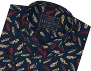 Selects Premium Cotton Printed Shirt - Peacock (0497) - Theshirtfactory