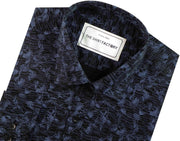 Men's 100% Cotton Printed Shirt - Blue (0421) - Theshirtfactory