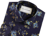 Men's 100% Cotton Printed Shirt - Navy Blue (0571) - Theshirtfactory