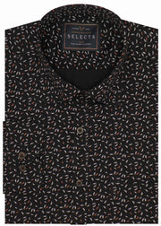 Selects Premium Cotton Printed Shirt - Black (0502) - Theshirtfactory