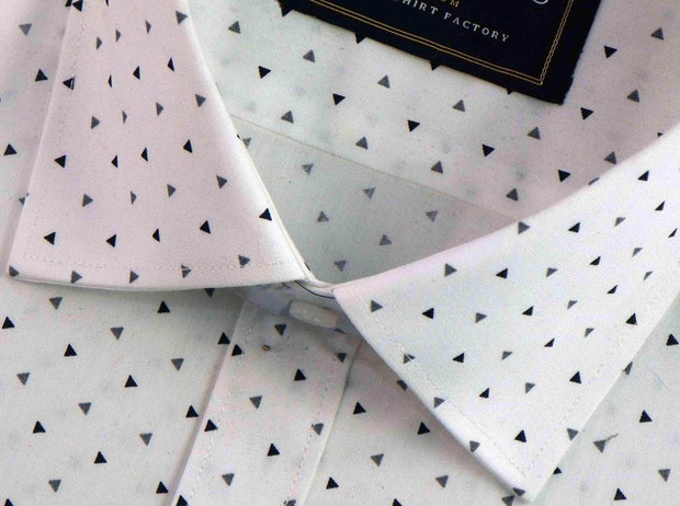 Selects Premium Cotton Printed Shirt - White (0348) - Theshirtfactory