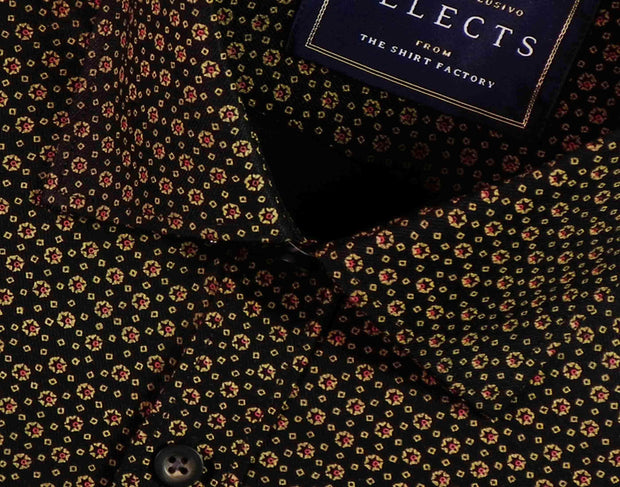 Selects Premium Cotton Printed Shirt - Black (0616) - Theshirtfactory