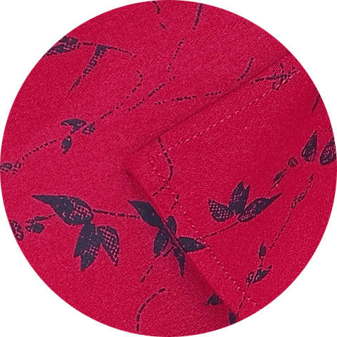Selects Cotton Dobby Printed Shirt for Men Red (0963) - Theshirtfactory