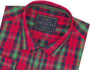 Selects Premium Cotton Check Shirt - Multicolor (0507)