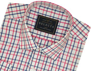 Selects Premium Cotton Blend Check Shirt - Red Check (0961) - Theshirtfactory