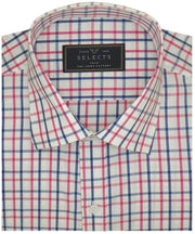 Selects Premium Cotton Blend Check Shirt - Red Check (0961)