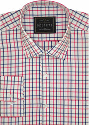 Theshirtfactory Selects Premium Cotton Check Shirt - Red Check (0961)