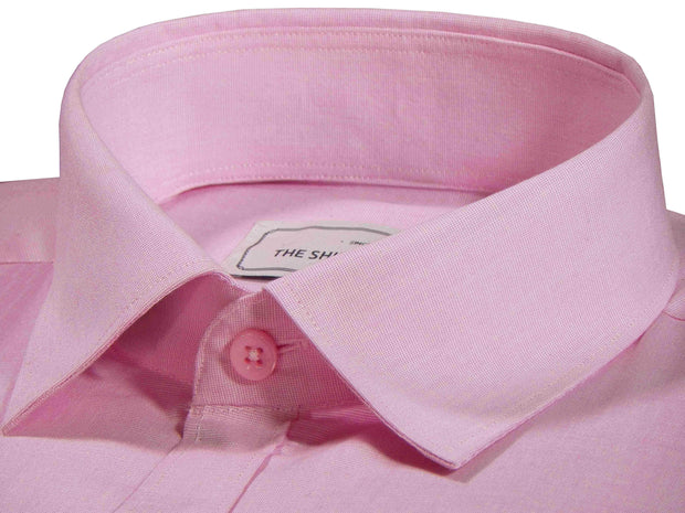 Men's Formal Cotton Blend Plain Shirt - Royal Pink (0029) - Theshirtfactory