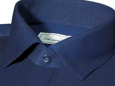 Men's Premium Cotton Dobby Shirt (Best for Suits) - Blue (0600) - Theshirtfactory