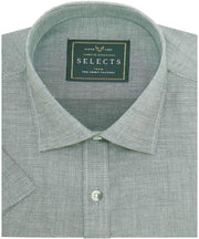 Men's Premium Giza Cotton Plain Shirt - Gray (0183) - Theshirtfactory