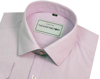 Men's 100% Cotton Plain Shirt - Light Purple (0477) - Theshirtfactory